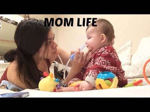 I suck boogers out of my baby's nose | Vlog
