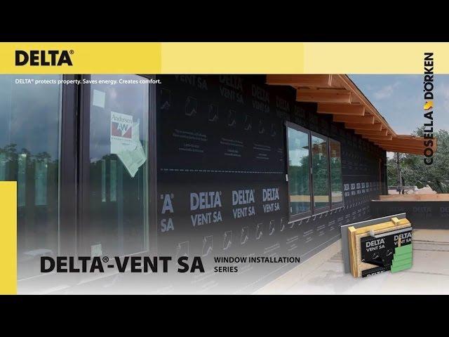 DELTA®-VENT SA - Window Installation Details #1 (short)