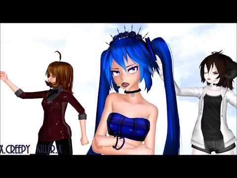 【MMD X CREPYPASTA X FRIEND X MYSELF】i'm Blue - Sonic.exe, Jo, Creepy, Panda