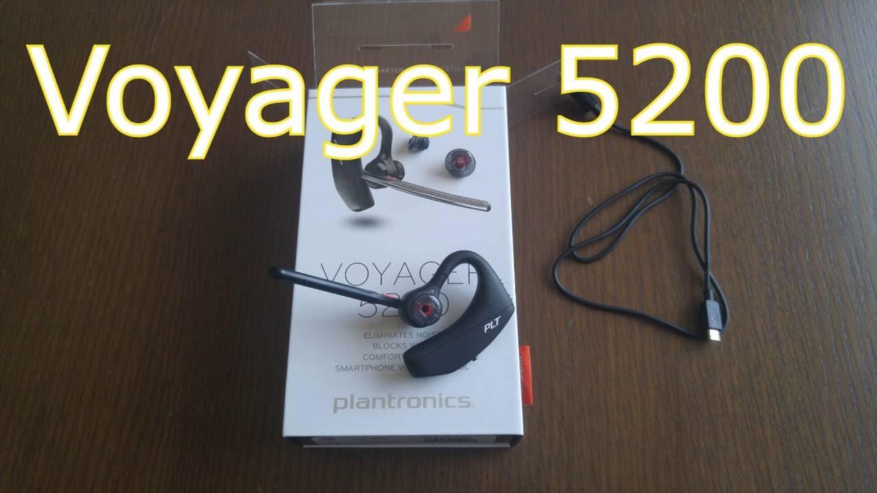 b74832bb763 Plantronics Voyager 5200 bluetooth headset - YouTube