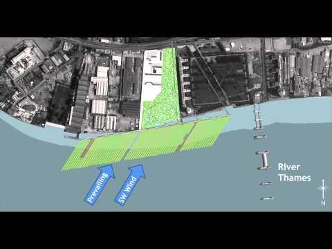 The River Thames; Biofuel Barge Farm & Linear Park