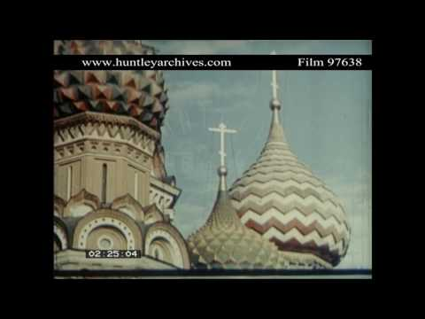 Moscow Underground, 1950's.  Good colour archive film 97638