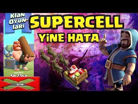 SUPERCELL'DEN BİR HATA DAHA ( KLAN OYUNLARI 50 PUAN ) Clash Of Clans