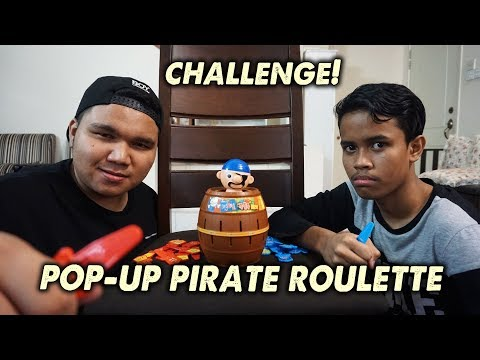 Pop-Up Pirate Roulette Challenge! w/ Ukiller (Malaysia) - Running Man Game!