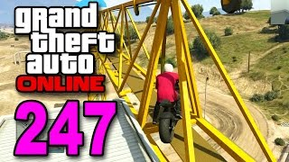 grand theft auto 5 multiplayer part 247 crane jumping gta online let s play