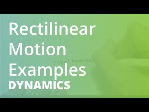 Rectilinear Motion Examples Dynamics