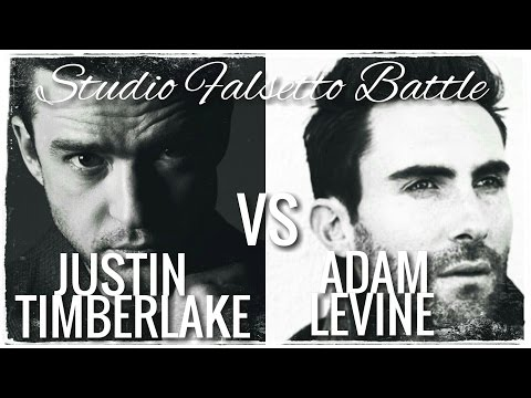 Justin Timberlake VS Adam Levine // Studio Falsetto Battle (C5-B5) (C6)