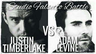 Justin Timberlake VS Adam Levine // Studio Falsetto Battle (C5-B5) (C6)