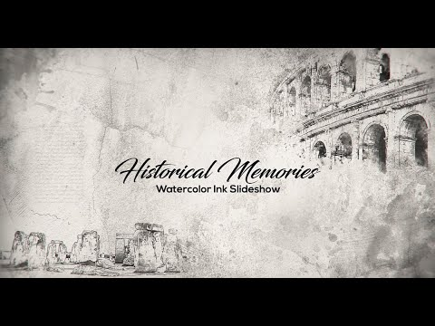 Historical Memories / Watercolor Ink Slideshow ( After Effects Template )  AE Templates by AE templates