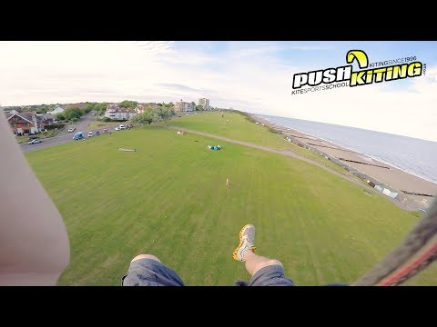 """Kitelooping over land! Extreme kiteboarding during """"The Beast from the East"""""""