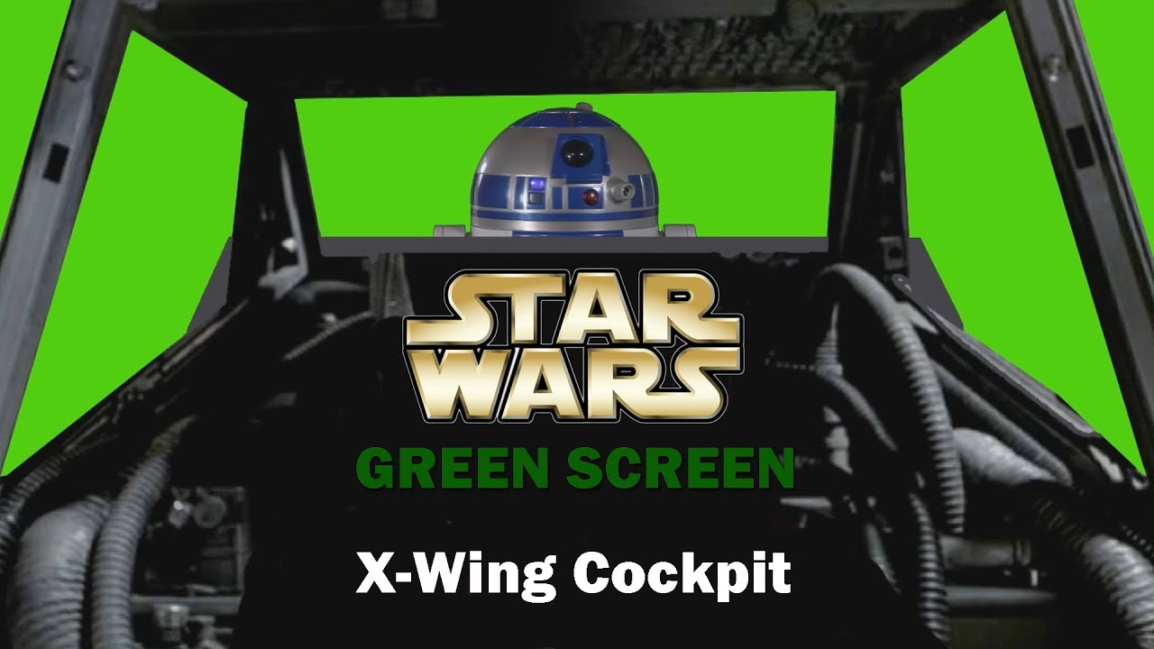 Star Wars Green Screen Xwing Cockpit With R2d2 Star Wars 8 Youtube