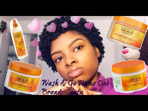 Wash And Go Using One Brand Short Natural Hair Cantu