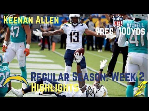 Keenan Allen Week 2 Regular Season Highlights | 9/17/2017
