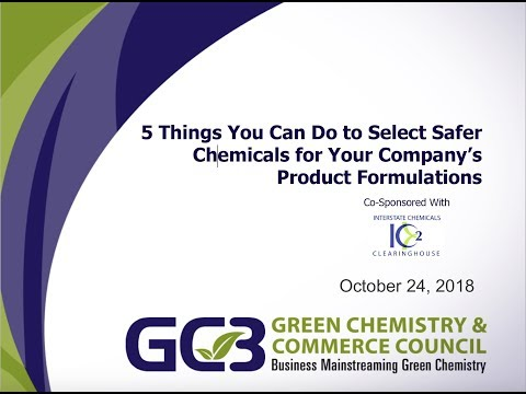 5 Things You Can Do To Select Safer Chemicals For Your Company's Product Formulatio