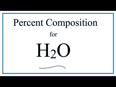 How To Find The Percent Composition By Mass For H2O (Water)