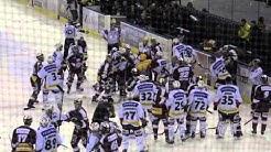 Bagarre a la fin du match de hockey servette de genève/Berne
