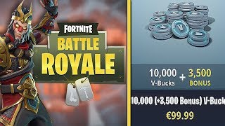 €99,99 AAN V-BUCKS KOPEN? (Fortnite: Battle Royale SOLO)