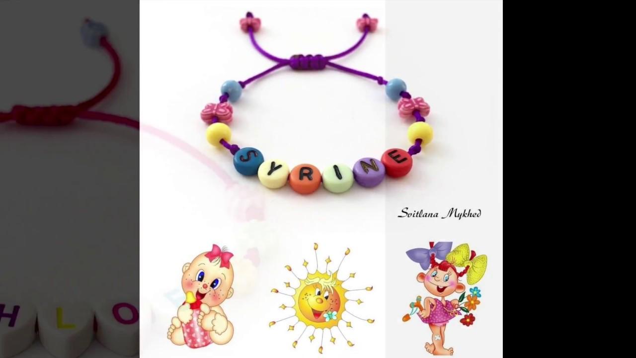 acheter pas cher super mignon la moitié Bracelet avec prénom ou message pour Enfant, Bébé, Nouveau-né