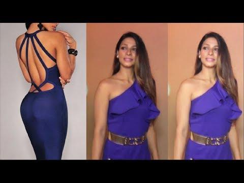 Tanisha Mukherjee Cleavage Silky Outfit || Sexy Mukherjee thumbnail