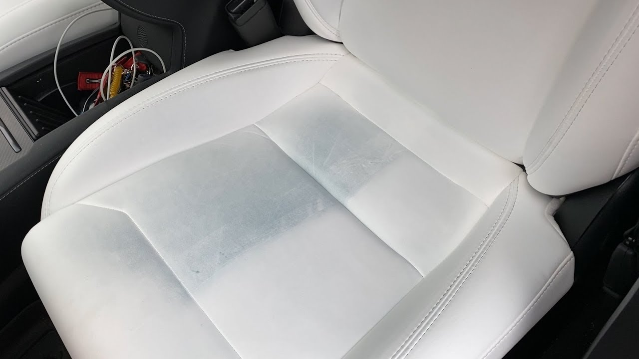 White Tesla Seats After 8 Months - YouTube
