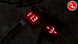 Цифровой индикатор напряжения батарей LiPo 1-8S со световым и звуковым сигнализатором | BX100