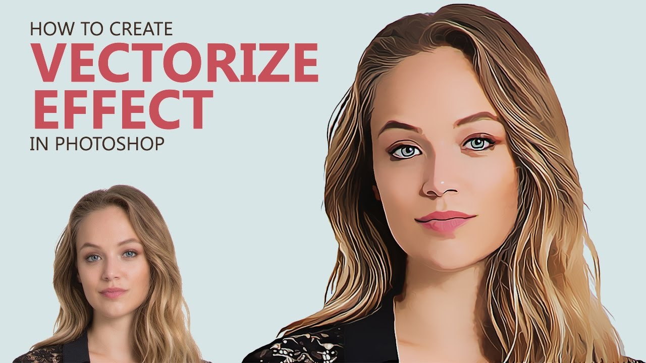 Photoshop Tutorial : Create Vector Painting Effect [Photoshopdesire com]