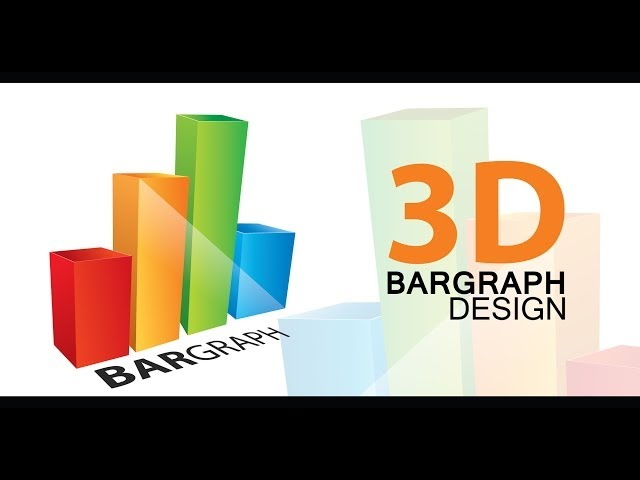 3D BARGRAPH DESIGN - Adobe Illustrator cs6