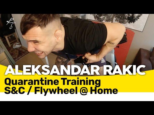 Aleksandar Rakic - Quarantäne Krafttraining auf dem Exxentric-Flywheel 🇬🇧🇲🇪🇧🇦🇷🇸🇭🇷 Subtitle