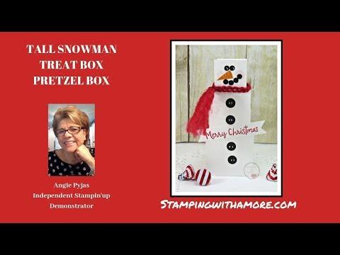 TALL SNOWMAN Treat Box/ Pretzel Box