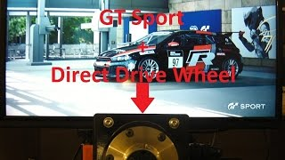 Gran Turismo Sport PS4 + Direct Drive Wheel!