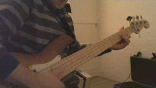 """Bass cover of the song """"Lessons in love"""" by Level 42."""