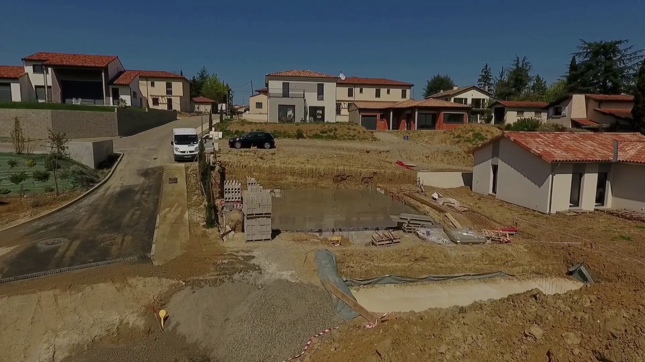 B tir sa maison rt2012 vid o drone 4 jprconstruction youtube for Batir une maison