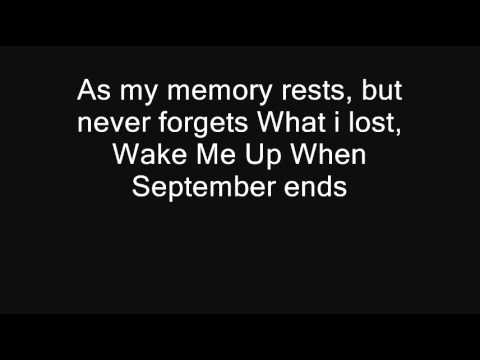 Wake Me Up When September Ends- Green Day [Lyrics] [HQ]