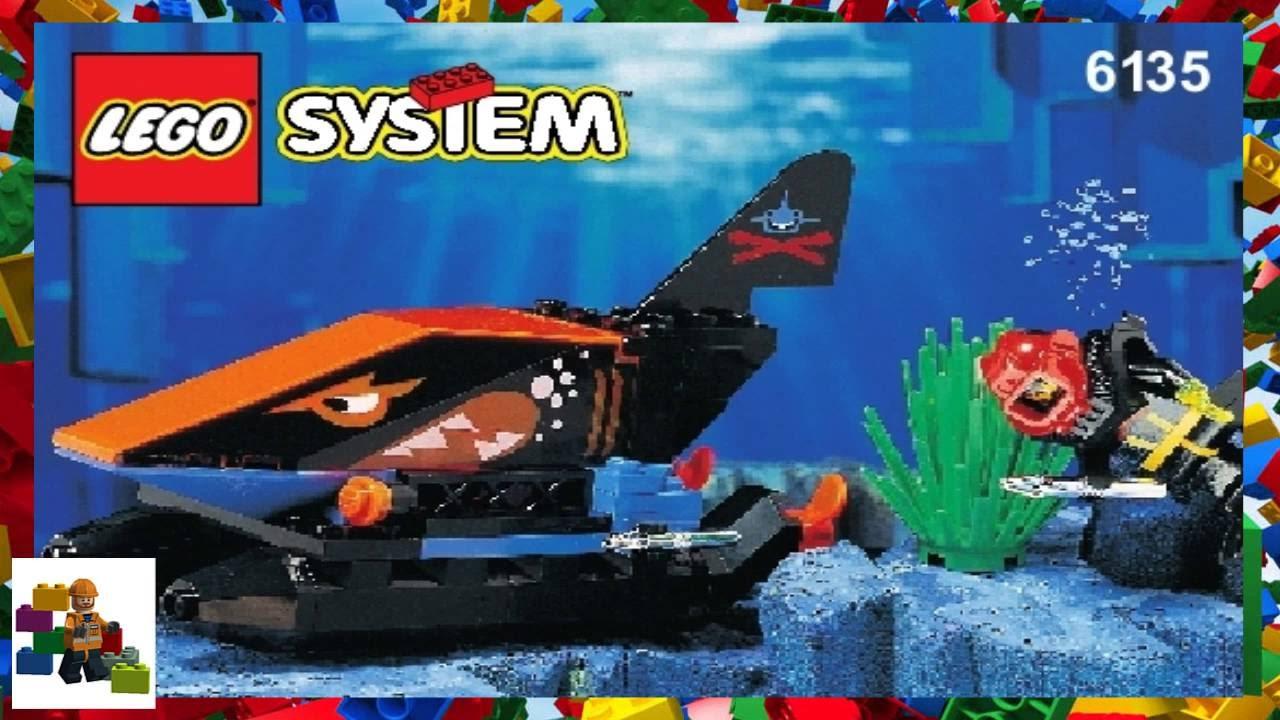 Lego Instructions Aquazone 6135 Small Shark Submarine Youtube