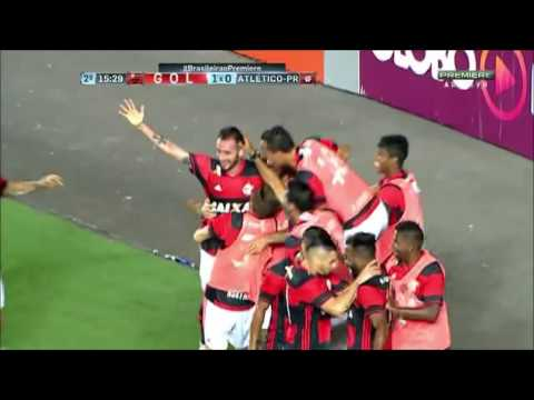 Gol de Mancuello Flamengo 1 x 0 Atletico pr 06/08/2016