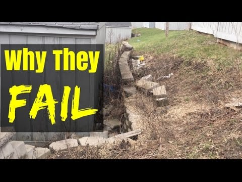 How Not To Build Retaining Wall