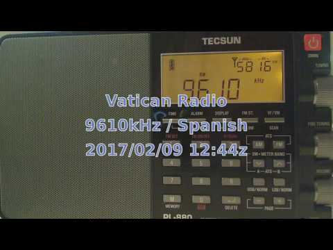 Vatican Radio - Spanish 9610kHz (via Greenville Site B) 2017/02/09 @ 12:44z