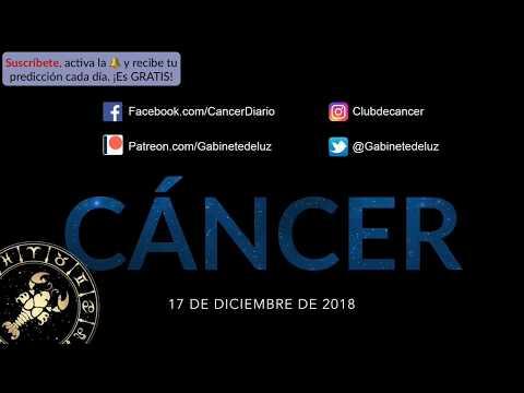 Horóscopo Diario y Semanal - Cáncer - 17 de Diciembre de 2018