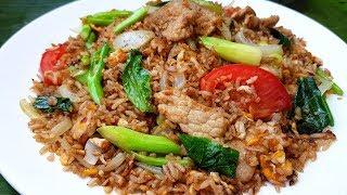 กับข้าวกับปลาโอ 608 : ข้าวผัดซีอิ๊ว ข้าวผัดวัยละอ่อน สูตรหมักหมูนุ่ม Thai fried rice pork and egg