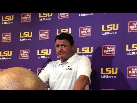 LSU coach Ed Orgeron breaks down 3821 defeat of Louisiana Tech