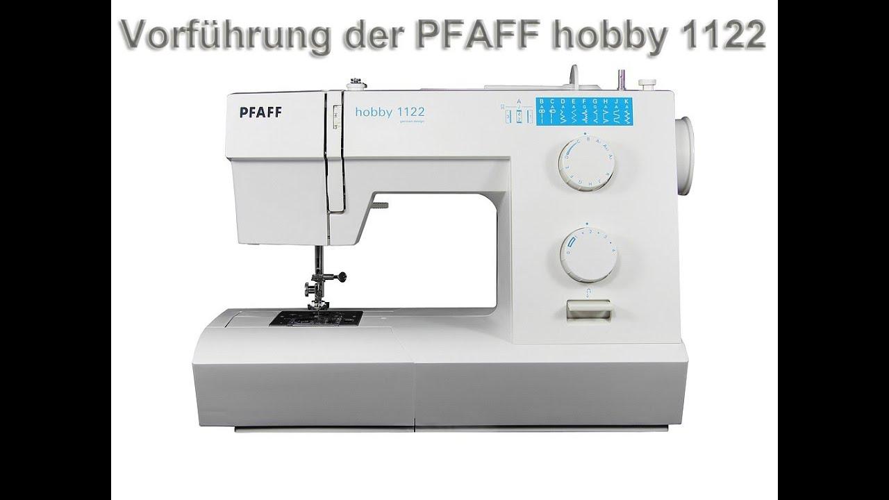 pfaff hobby 1122 n hmaschine deutsch youtube. Black Bedroom Furniture Sets. Home Design Ideas