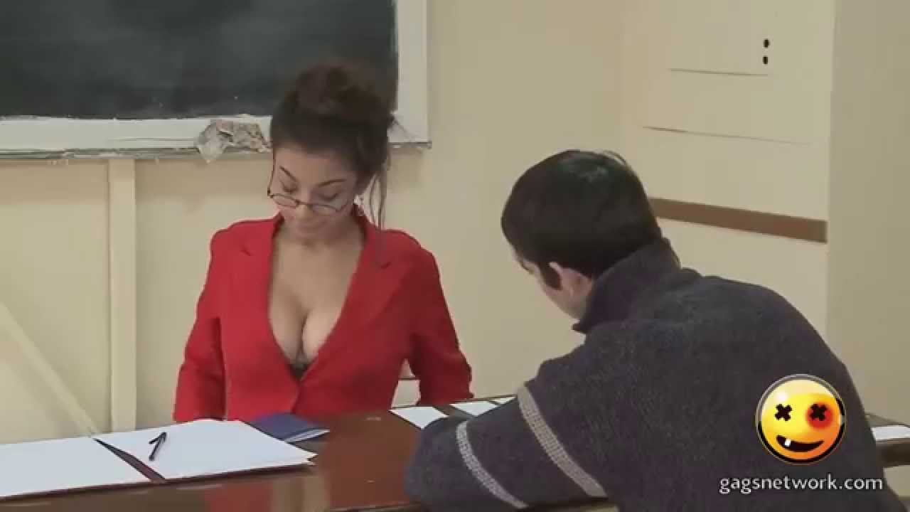 Profesoara Sexy La Examen  Sexy Teacher Prank 2015 -9366