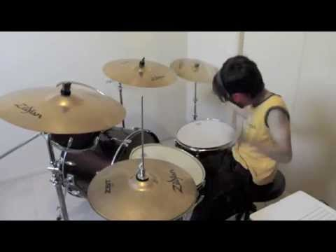 Radioactive - Imagine Dragons - Drum Cover By 11 Year Old Joh Kotoda