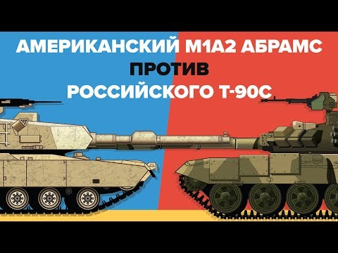 Американский M1A2 Абрамс против Российского T-90С - Сравнение главных боевых танков