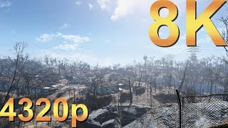Fallout 4 8K Ultra+ Settings 4320p Gameplay High Resolution PC Gaming 4K | 5K | 8K and Beyond