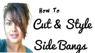Messy Side Swept Bangs CUT & STYLE |TUTORIAL| ROCHELLEWICK |
