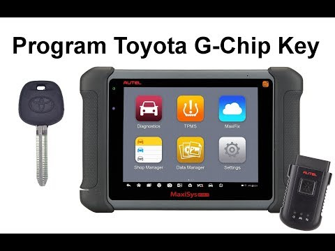 Programming A Toyota G Chip Key With The Autel MS906TS