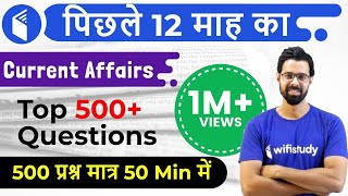 Last 12 Months Current Affairs 2018 | Top 500 Current Affairs Questions Part-1