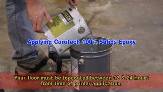 Applying Corotech 100% solids epoxy onto concrete