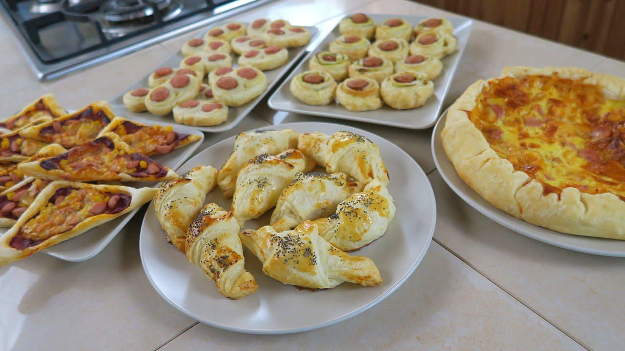Rustici di Pasta Sfoglia e Wurstel  5 Ricette Facili da Aperitivo  Puff Pastry and Wurstel